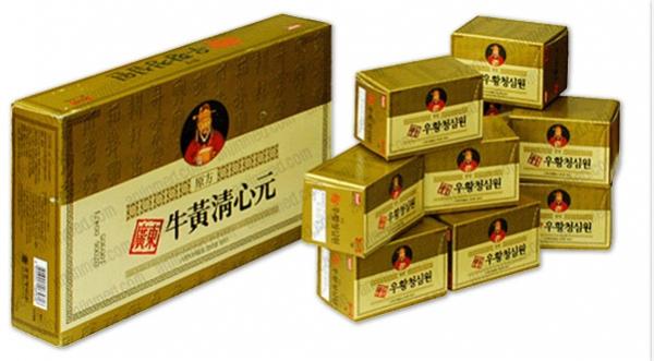An cung ngưu hoàng hoàn hộp vàng Hàn Quốc