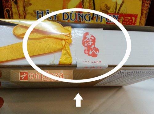Tem nhãn ngoài sản phẩm được đóng gói rất cẩn thận tỷ mỉ, và sang trọng