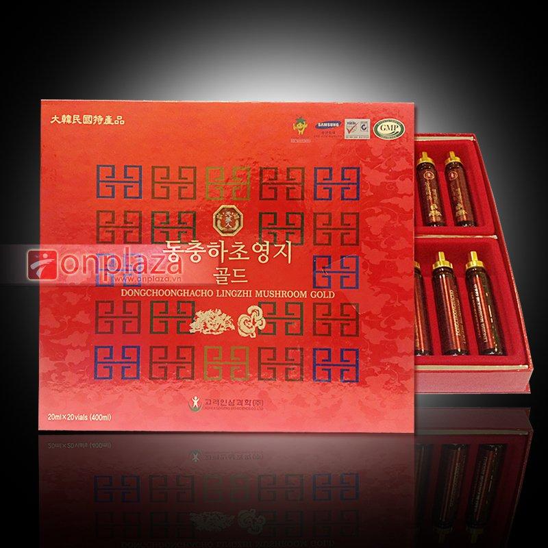 Nước uống Đông trùng hạ thảo nấm linh chi dạng ống Hàn Quốc