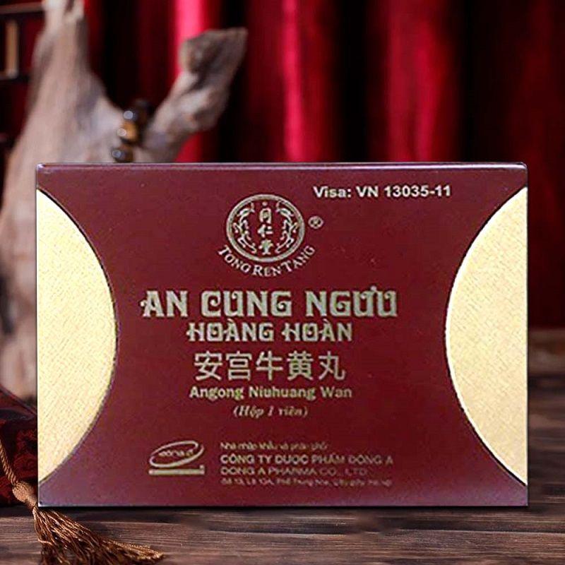 An cung ngưu hoàng hoàn hộp đỏ ( Đông Á) Bắc Kinh Đồng Nhân Đường