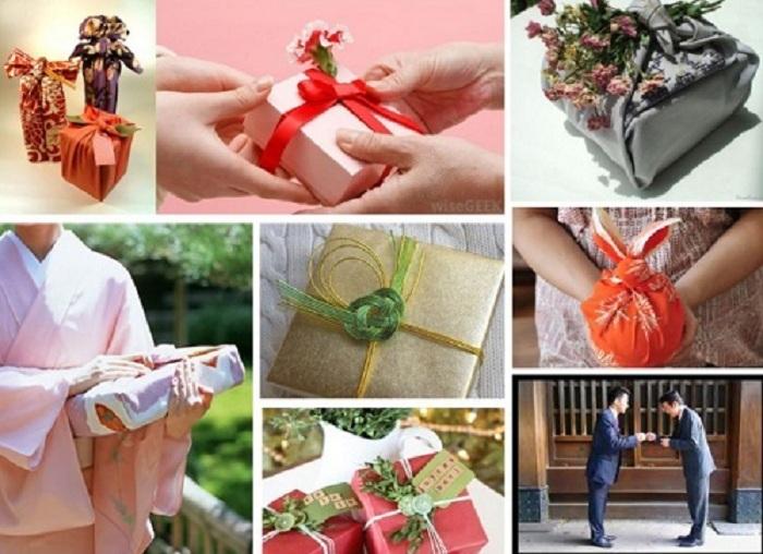 Nghệ thuật gói hộp quà tết mang phong cách Nhật Bản