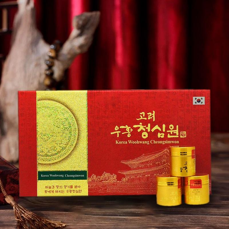Ngưu hoàng thanh tâm Hàn Quốc hộp giấy (10 viên /hộp) A033