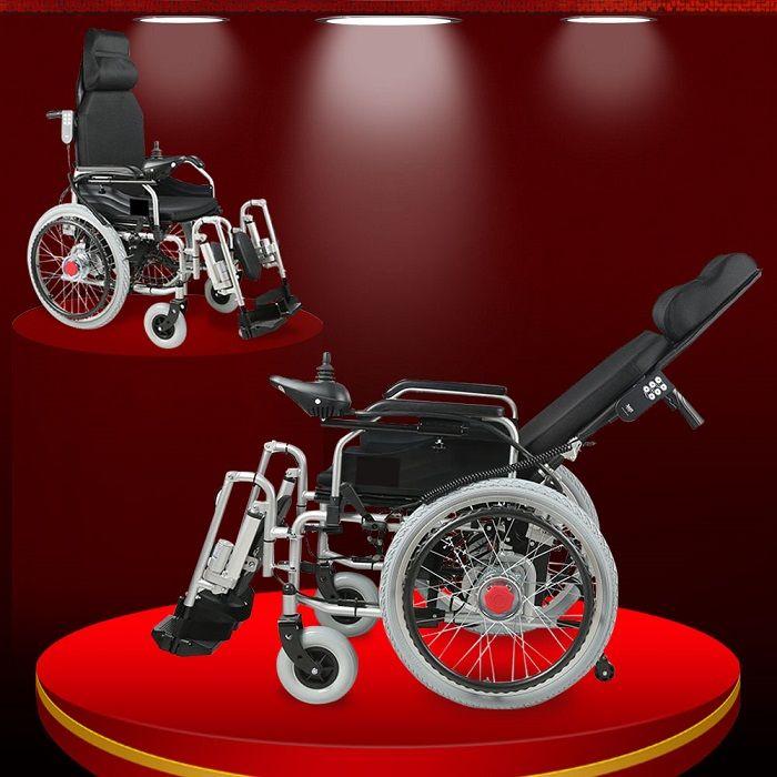 Xe lăn điện gấp ngả phục hồi chức năng đặc biệt cao cấp (vành nan) TM036N