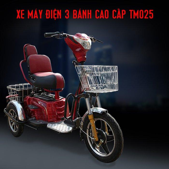 Xe máy điện 3 bánh hiện đại màu đỏ TM025 1