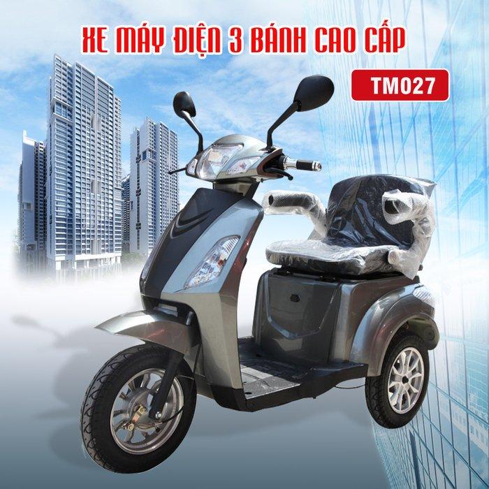 Xe máy điện 3 bánh cao cấp màu ghi TM027 1