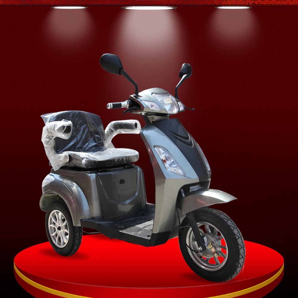 Xe máy điện 3 bánh cao cấp màu ghi TM027