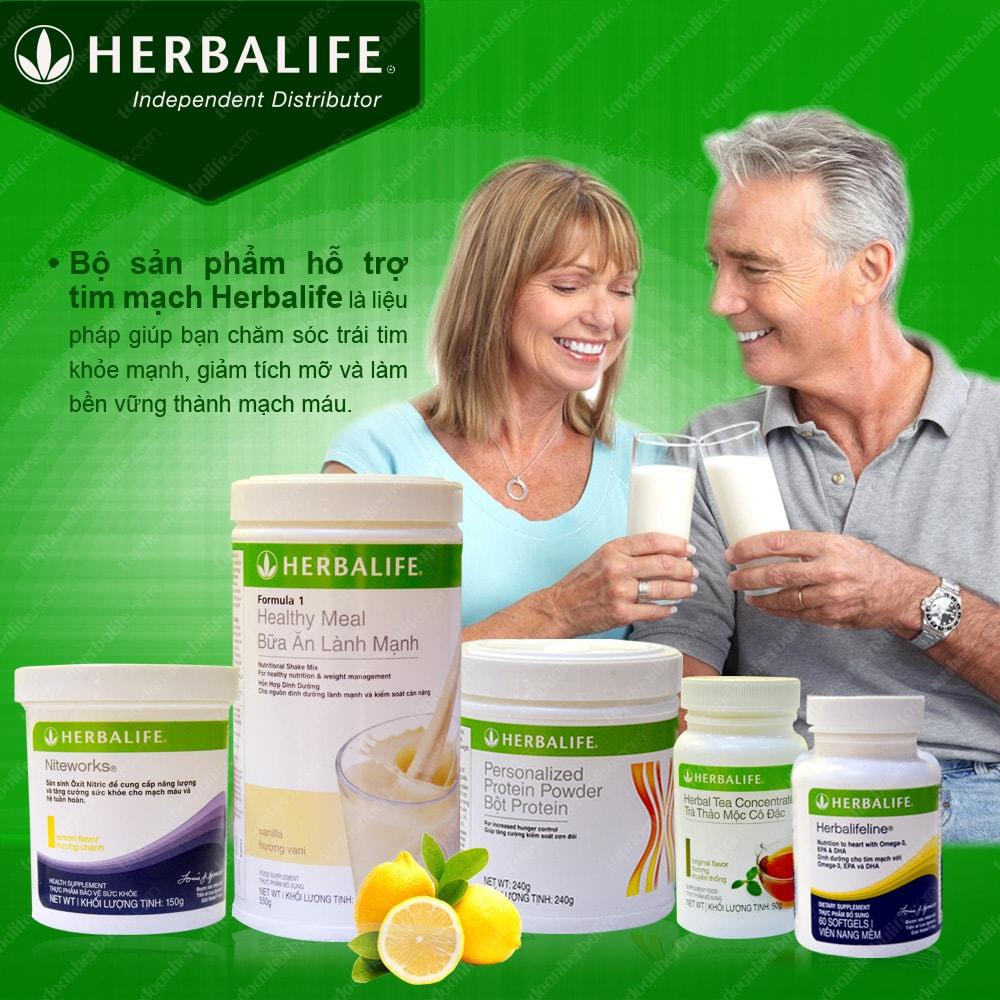 Bộ sản phẩm Herbalife hỗ trợ bệnh tim mạch 1