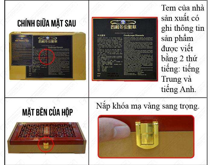 đặc điểm nhận biết Đông trùng hạ thảo nguyên con cao cấp thượng hạng loại 20g/hộp D054 chính hãng 3