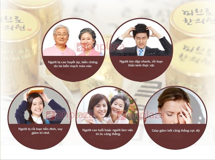 Đối tượng sử dụng với viên an cung ngưu Hàn Quốc