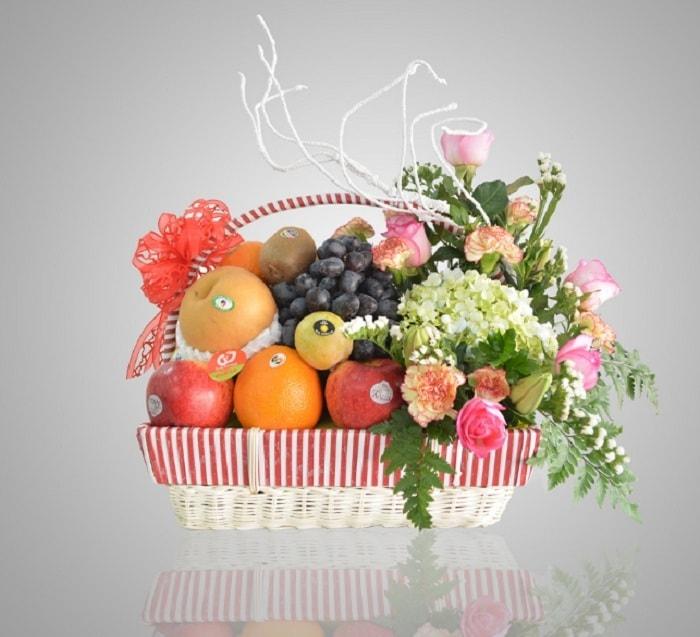 Giỏ quà tết hoa quả đẹp tặng thầy cô