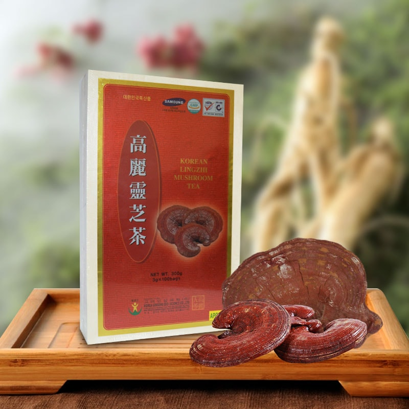 Hộp nấm linh chi Hàn Quốc món quà tết sức khỏe