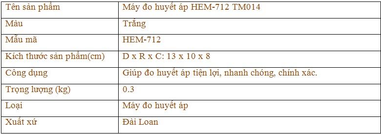 Máy đo huyết áp HEM-7121 TM014 1