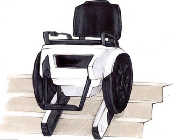 Ý tưởng độc đáo và mới lạ về chiếc xe lăn điện leo cầu thang