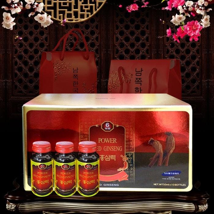 Hộp quà tết nước uống hồng sâm