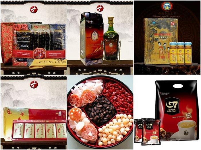 Thị trường quà biếu Tết sôi động với nhiều sản phẩm nội và ngoại