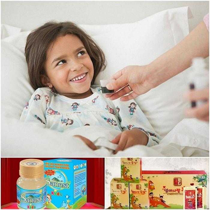 Quà tặng cho bé là các sản phẩm chăm sóc sức khỏe bổ dưỡng