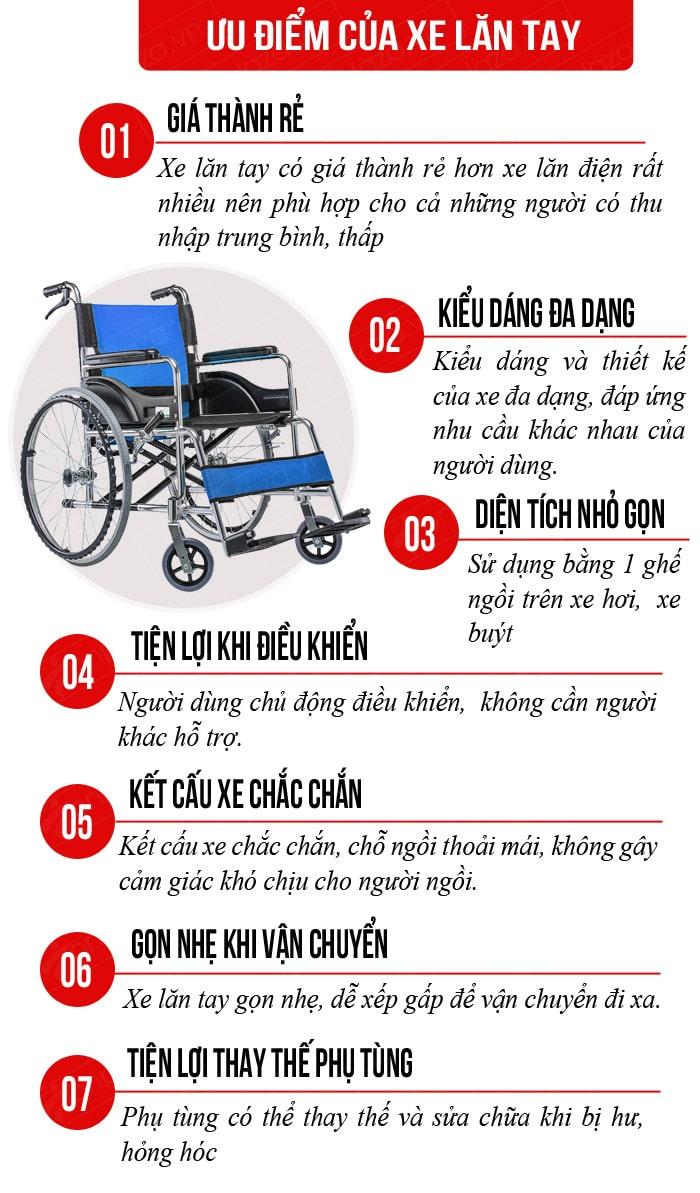 ưu điểm của các loại xe lăn tay hiện nay