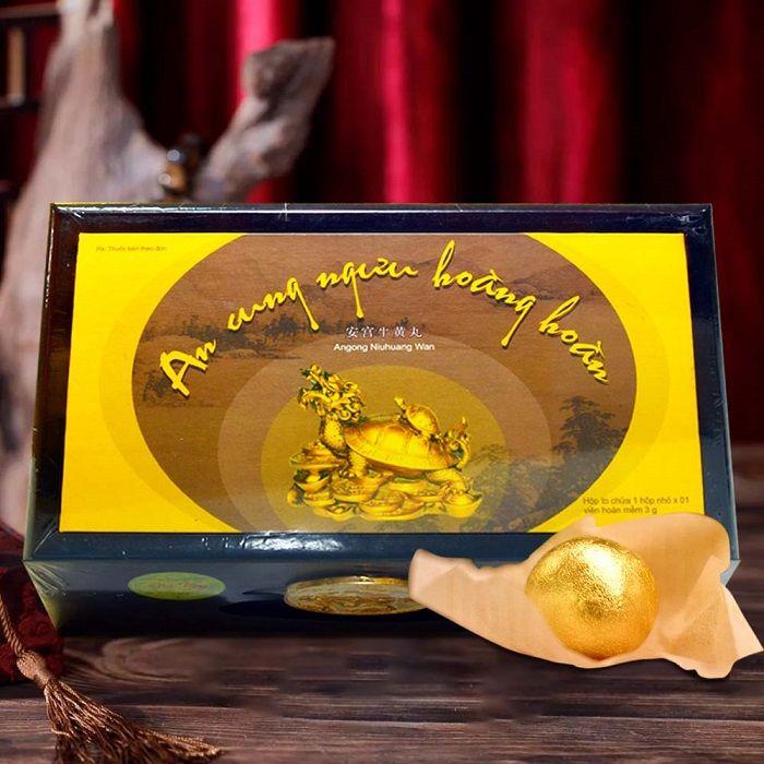 An cung ngưu hoàng hoàn hiệu rùa vàng hộp 1 viên