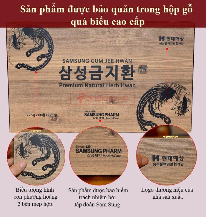 Viên bổ não 60 viên hộp gỗ Samsung Hàn Quốc A036 2