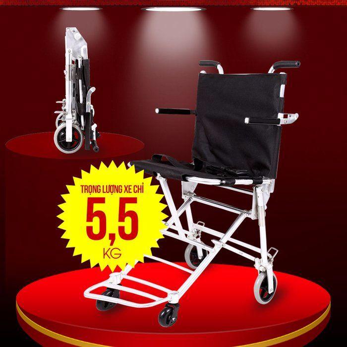 Xe lăn đẩy tay thuận tiện đi du lịch dành cho người khuyết tật, người già TM037