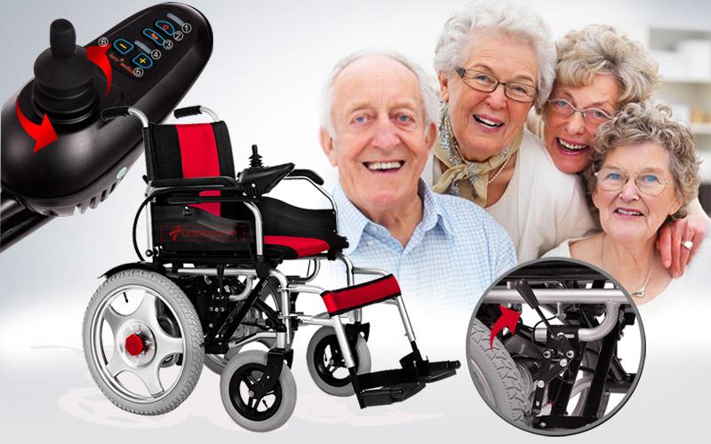 Giới thiệu Xe lăn điện cho người già, người tàn tật