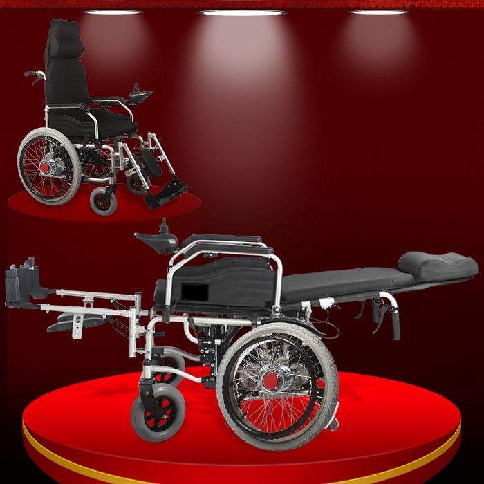 Xe lăn điện nhập khẩu cao cấp dành cho người khuyết tật, người bệnh (Vành nan) TM034N