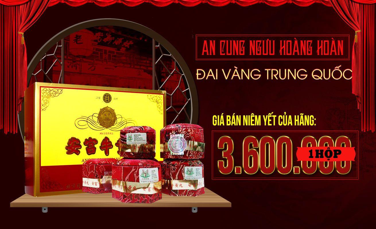 Giá niêm yết của hãng sản xuất an cung ngưu đai vàng