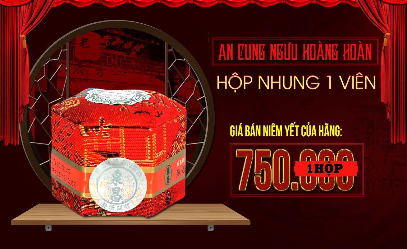 Giá bán niêm yết của hãng sản xuất an cung ngưu đai đỏ