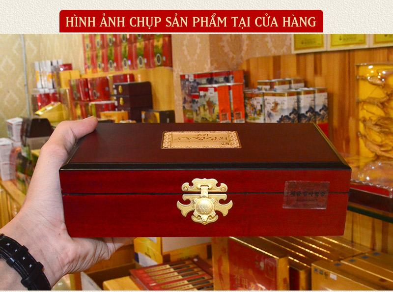 Ngưu hoàng thanh tâm Hàn Quốc hộp gỗ (10 viên/ hộp) A034 6