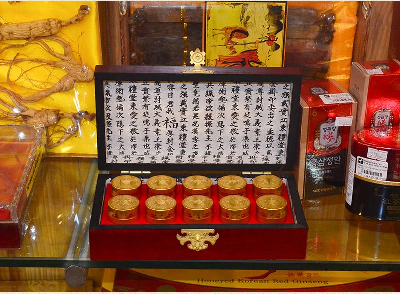 Ngưu hoàng thanh tâm Hàn Quốc hộp gỗ (10 viên/ hộp) A034 7